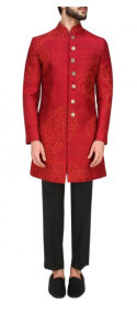 red-sherwani